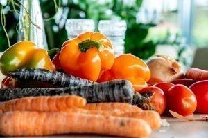 Verse groente voor de kookworkshop