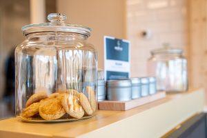 Koekjes in een glazenpot