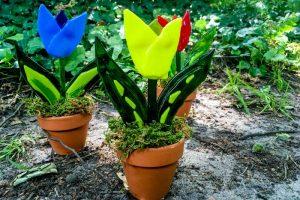 Bloemen van glas idee-Atelier Alkmaar
