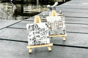 Kleine schilerijtjes op een standaard idee-Atelier Alkmaar