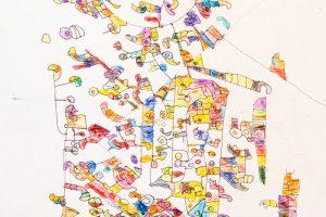 Werk van Ingeborg met potlood